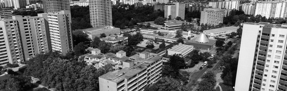 Höchhäuser aus der Vogelperspektive