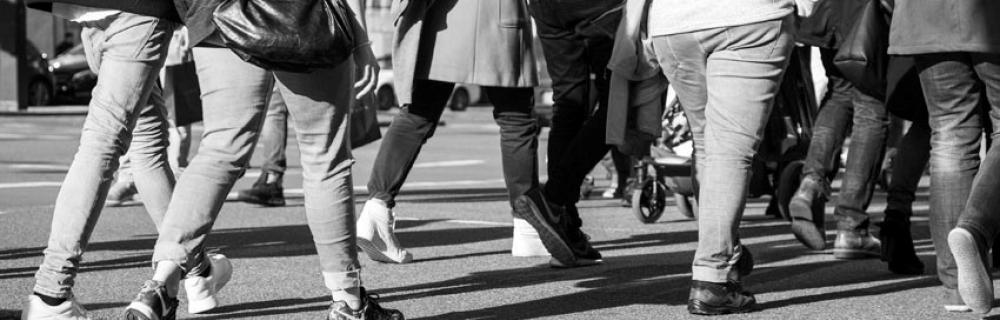 Beine von Menschen