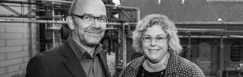 Klaus Peter Müller und Karen Dietrich stehen nebeneinander in Duisburg