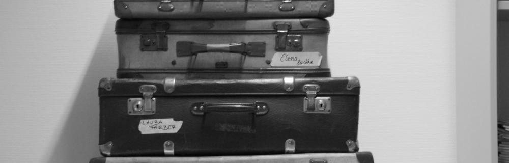 Alte Koffer übereinandergestapelt