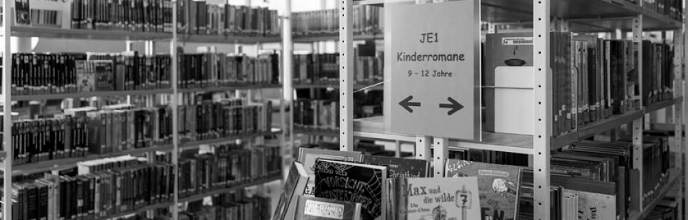 Bücher in Bibliothek