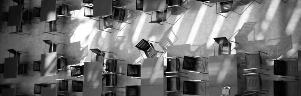leere Stühle aus der Vogelperspektive