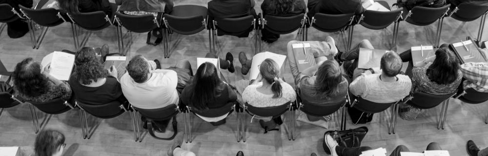 Publikum im Plenum